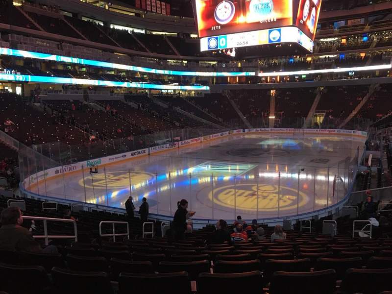 Seating view for Rogers Place Section 109 Row 19 Seat 12
