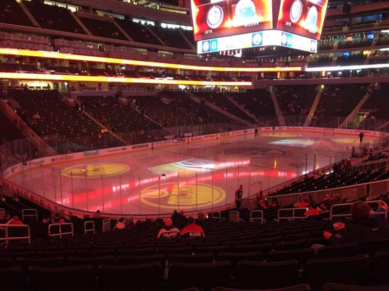 Seating view for Rogers Place Section 107 Row 22 Seat 15