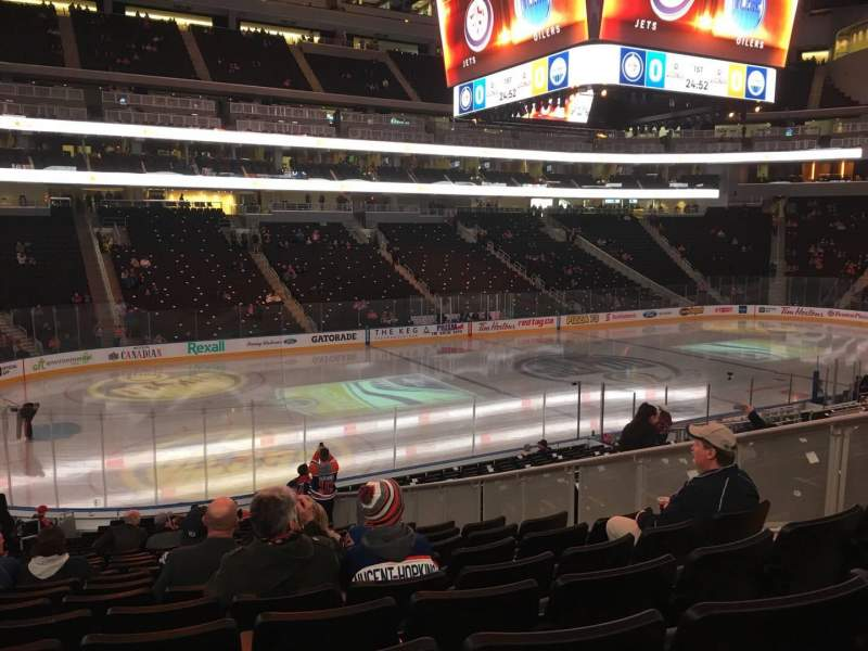 Seating view for Rogers Place Section 105 Row 21 Seat 8