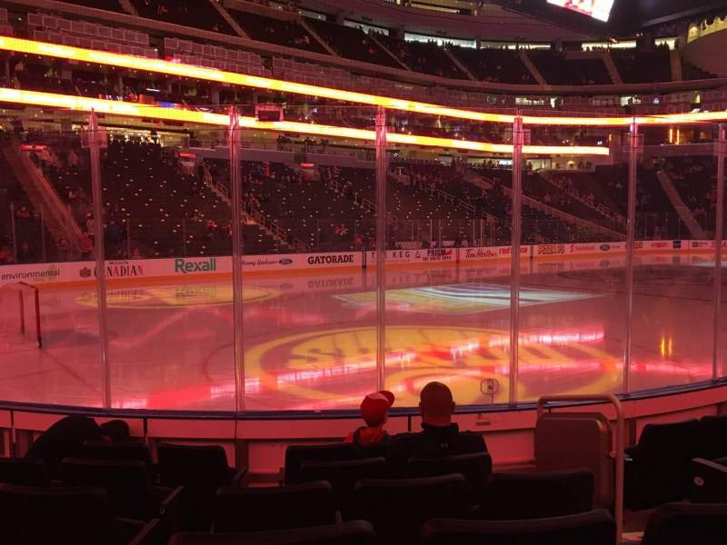 Seating view for Rogers Place Section 107 Row 6 Seat 3