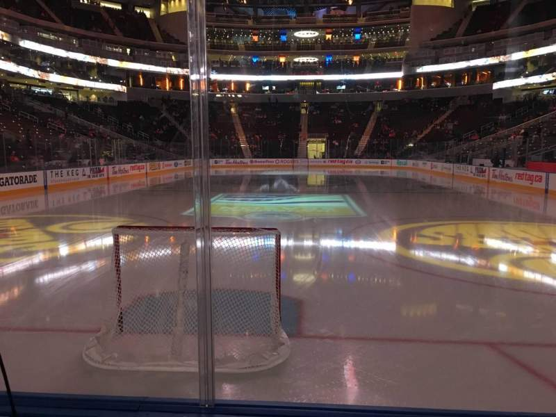 Seating view for Rogers Place Section 110 Row 2 Seat 11