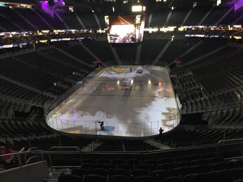 Seating view for T-Mobile Arena Section 102 Row J Seat 6