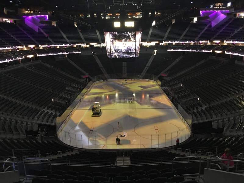 Seating view for T-Mobile Arena Section 101 Row K Seat 12