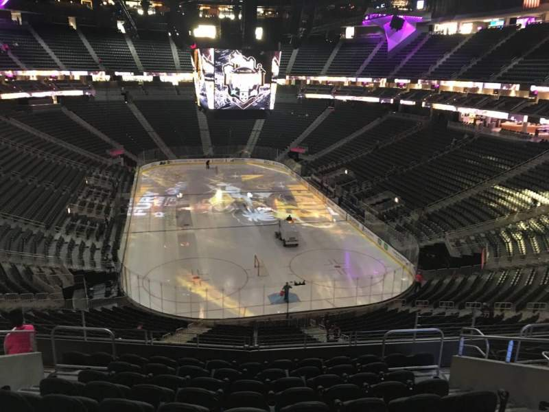 Seating view for T-Mobile Arena Section 120 Row K Seat 11
