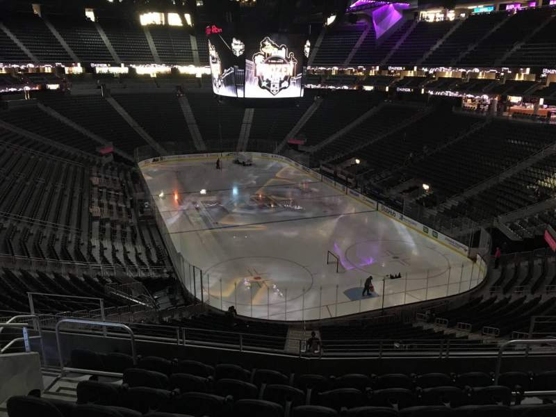 Seating view for T-Mobile Arena Section 119 Row H Seat 10