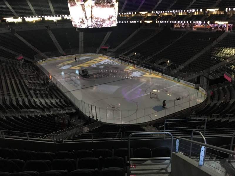 Seating view for T-Mobile Arena Section 118 Row G Seat 13