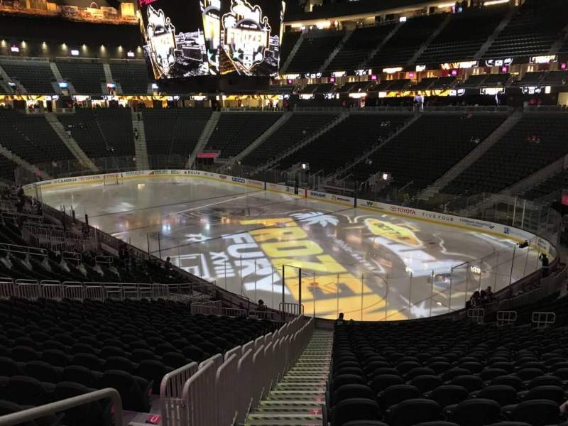 Seating view for T-Mobile Arena Section 9 Row Z