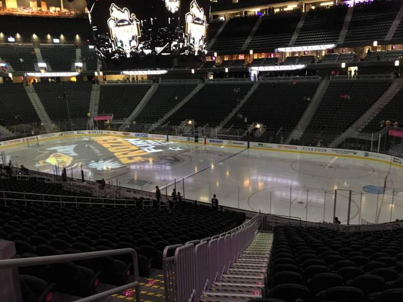 Seating view for T-Mobile Arena Section 8 Row Z Seat 1