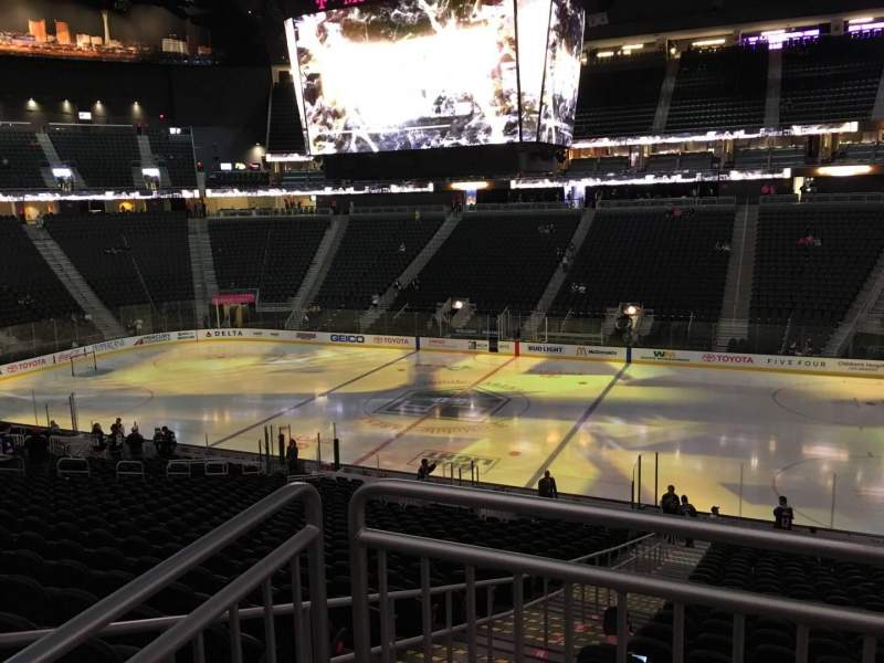 Seating view for T-Mobile Arena Section 8 Row Acc