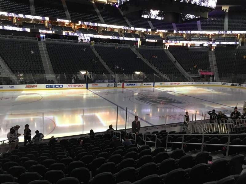 Seating view for T-Mobile Arena Section 4 Row M Seat 8