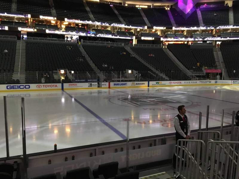 Seating view for T-Mobile Arena Section 5 Row D Seat 2