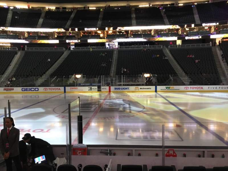 Seating view for T-Mobile Arena Section 6 Row D Seat 6