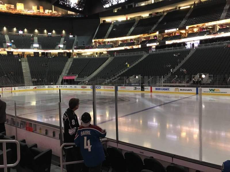 Seating view for T-Mobile Arena Section 7 Row B Seat 6