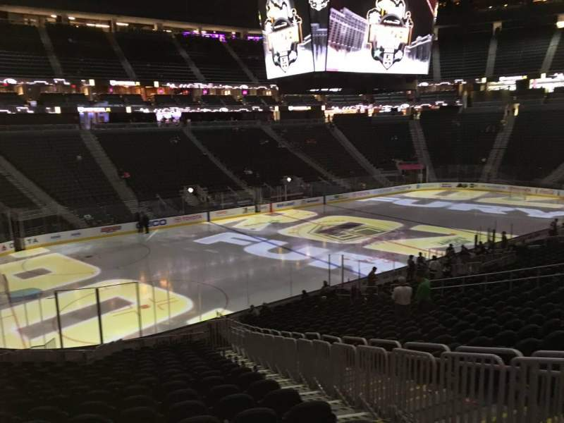 Seating view for T-Mobile Arena Section 3 Row W Seat 21