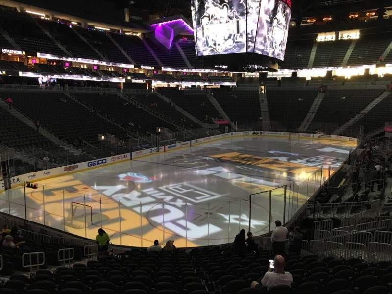 Seating view for T-Mobile Arena Section 2 Row T Seat 10