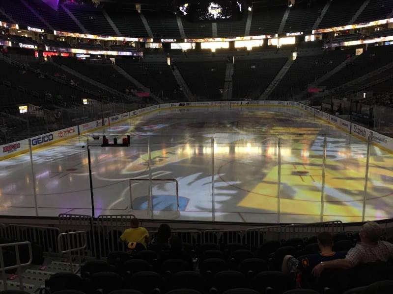 Seating view for T-Mobile Arena Section 1 Row J Seat 5