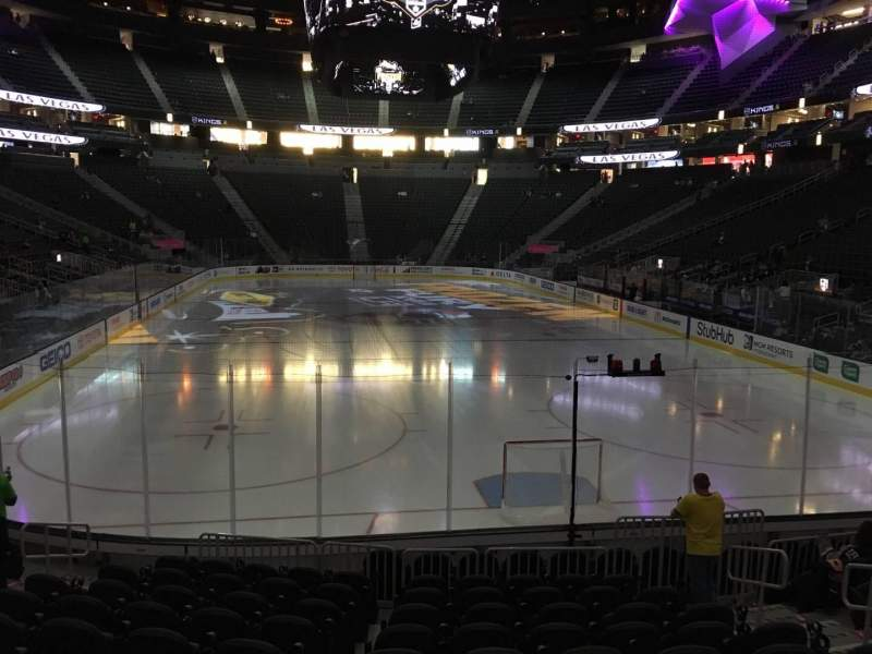 Seating view for T-Mobile Arena Section 20 Row K Seat 10