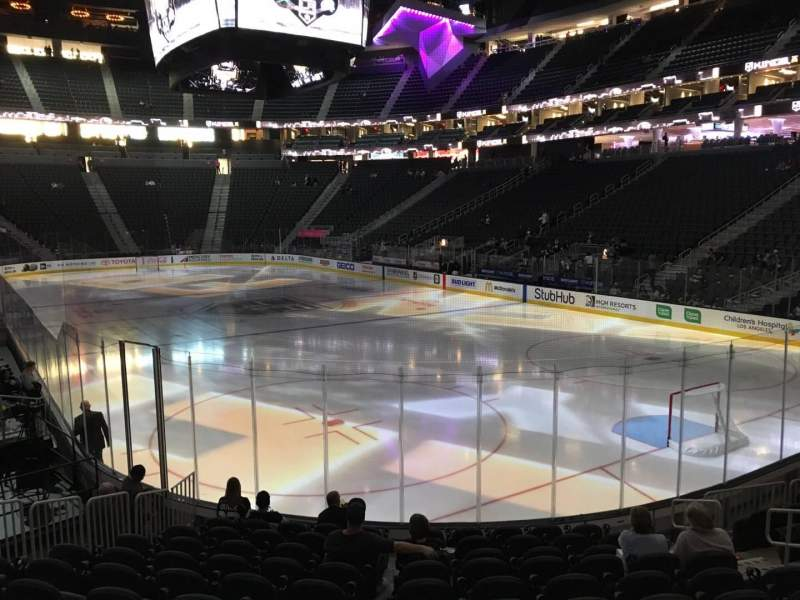 Seating view for T-Mobile Arena Section 19 Row L Seat 9