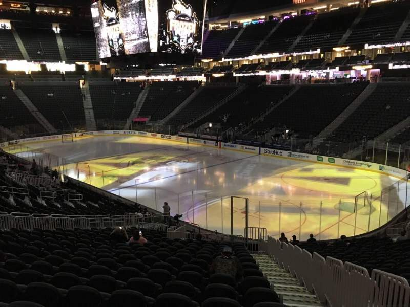 Seating view for T-Mobile Arena Section 18 Row W Seat 23