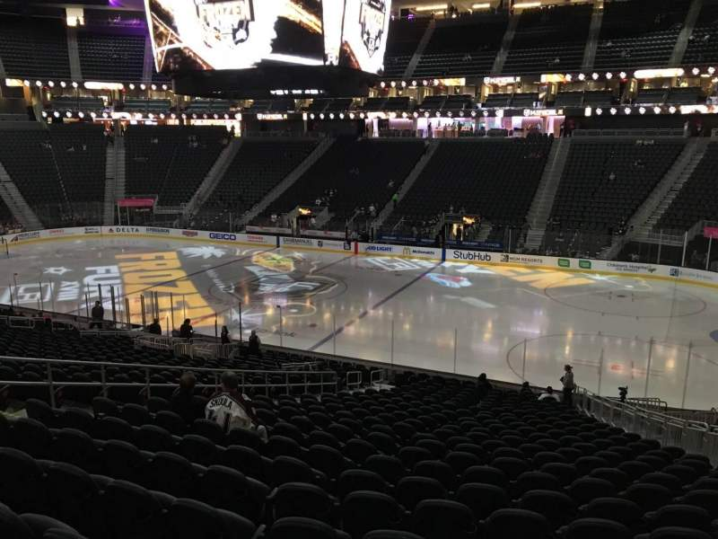 Seating view for T-Mobile Arena Section 17 Row W Seat 12