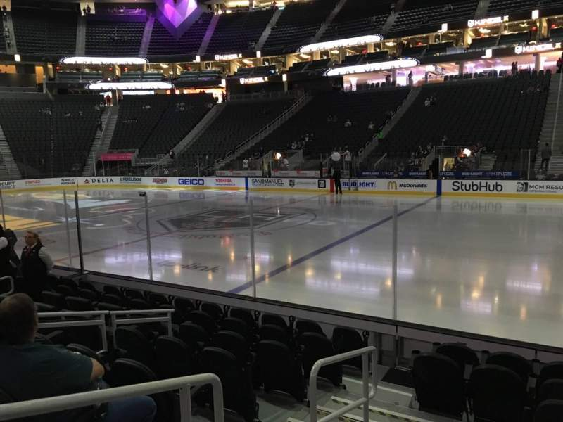 Seating view for T-Mobile Arena Section 17 Row D Seat 1