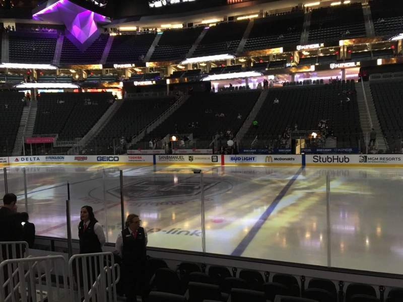 Seating view for T-Mobile Arena Section 16 Row D Seat 18