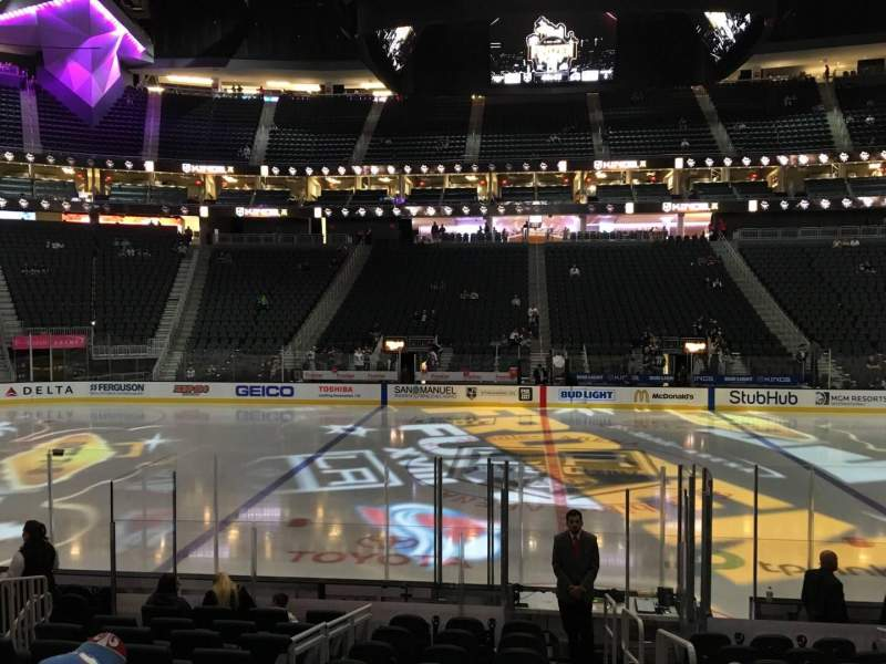 Seating view for T-Mobile Arena Section 15 Row H Seat 22