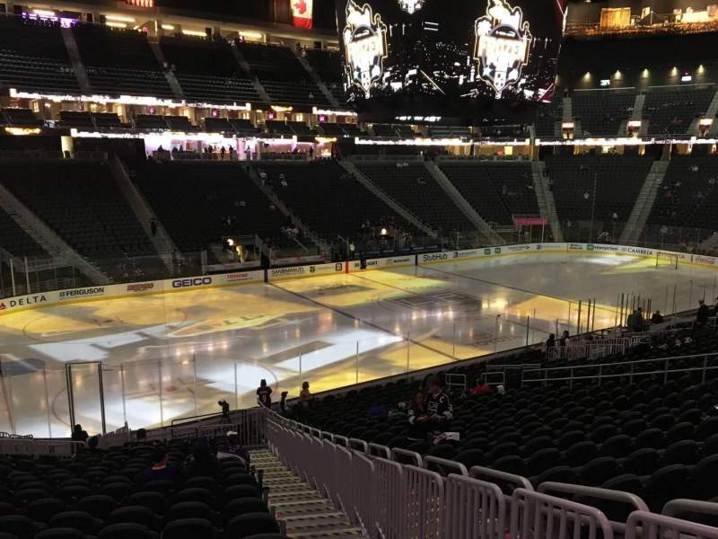 Seating view for T-Mobile Arena Section 13 Row W Seat 22