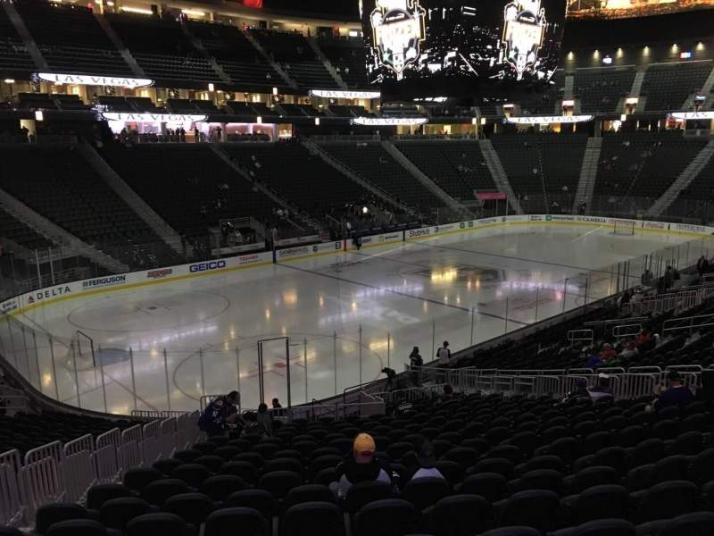 Seating view for T-Mobile Arena Section 13 Row W Seat 6