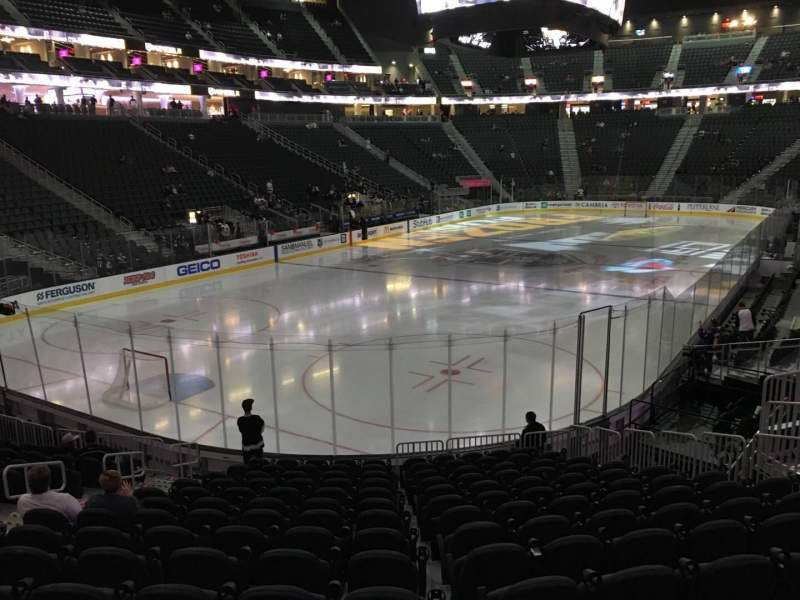 Seating view for T-Mobile Arena Section 12 Row P Seat 10
