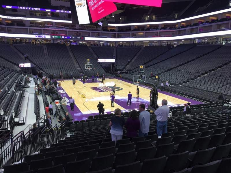 Seating view for Golden 1 Center Section 102 Row U Seat 15