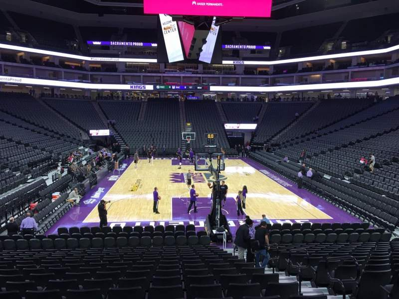 Seating view for Golden 1 Center Section 101 Row H Seat 5