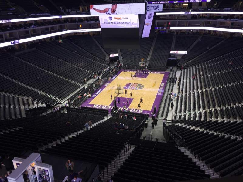 Seating view for Golden 1 Center Section Upper Deck Row Standing Room