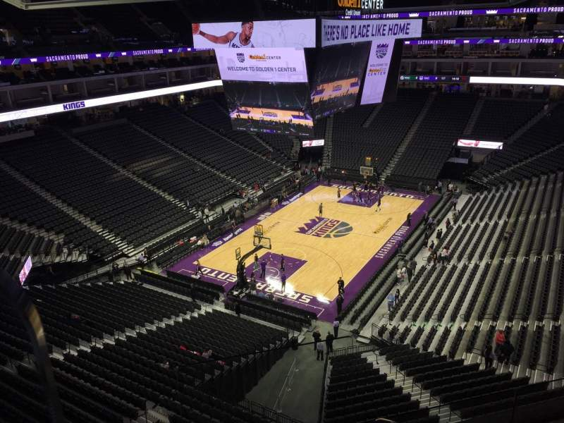 Seating view for Golden 1 Center Section 222 Row B Seat 22