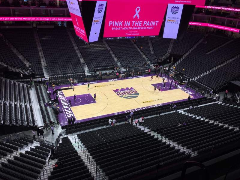 Seating view for Golden 1 Center Section 220 Row B Seat 2