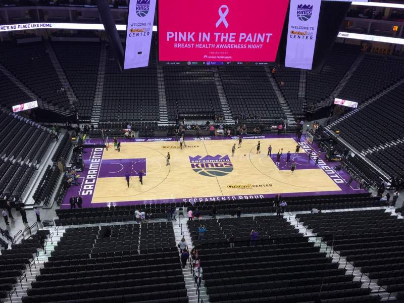 Seating view for Golden 1 Center Section 219 Row B Seat 2