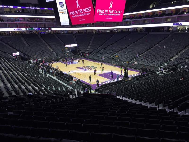 Seating view for Golden 1 Center Section 103 Row W Seat 12