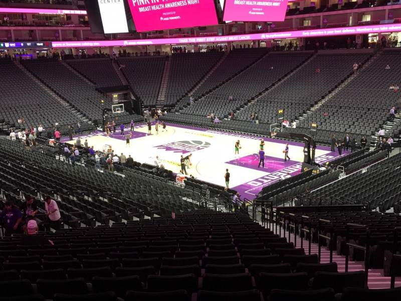 Seating view for Golden 1 Center Section 104 Row W Seat 4