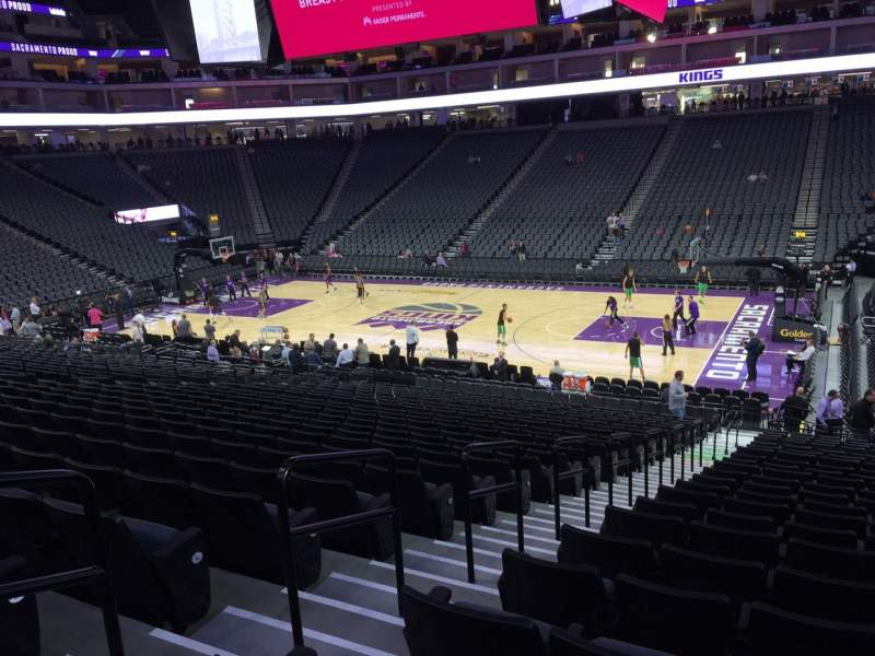 Seating view for Golden 1 Center Section 105 Row P Seat 14
