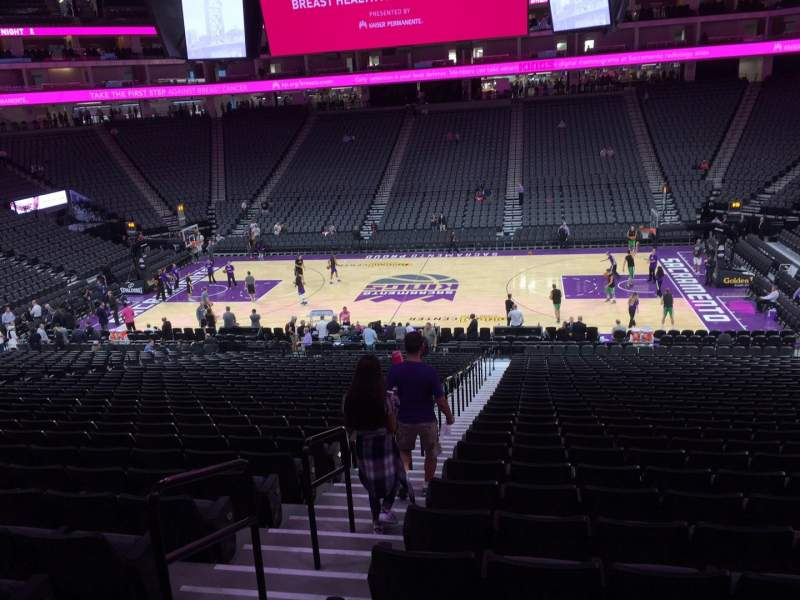 Seating view for Golden 1 Center Section 106 Row R Seat 17