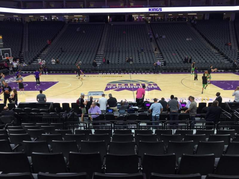 Seating view for Golden 1 Center Section 107 Row A Seat 10