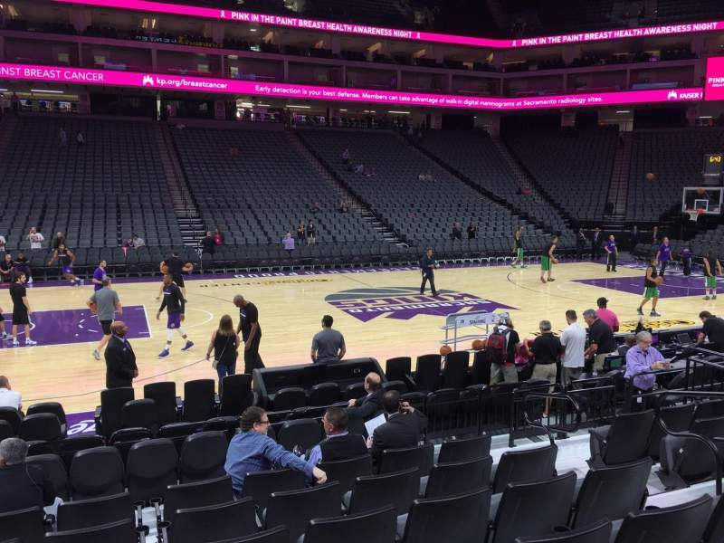 Seating view for Golden 1 Center Section 108 Row Ff Seat 7
