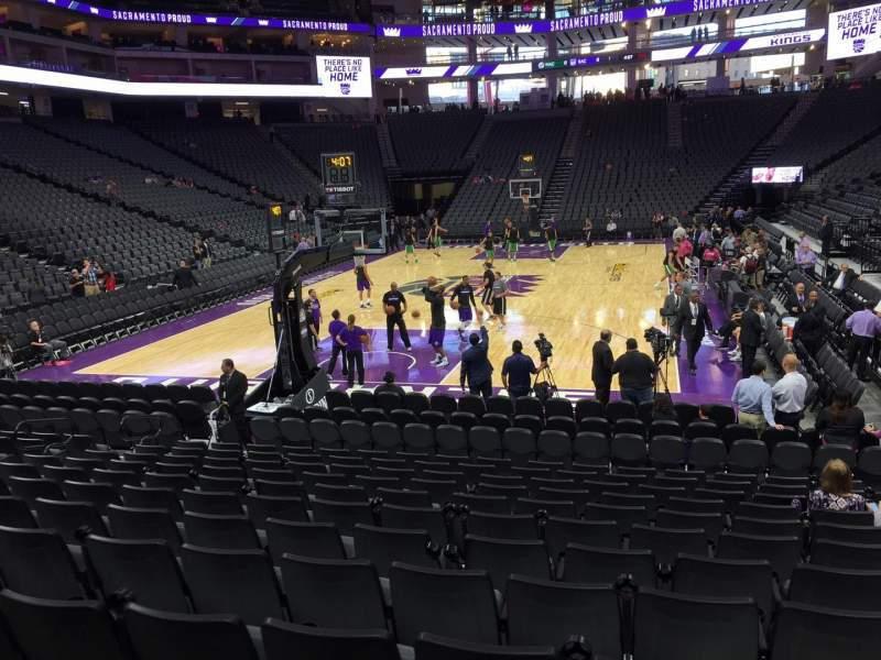 Seating view for Golden 1 Center Section 112 Row G Seat 9