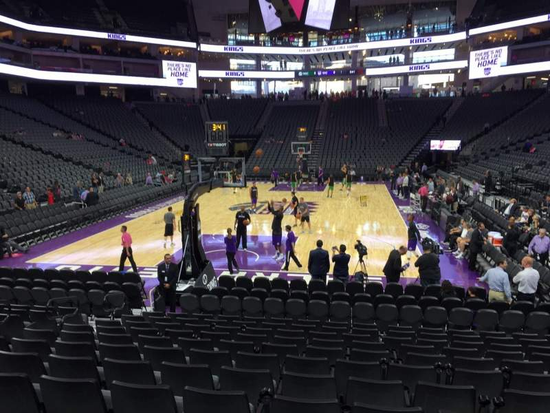 Seating view for Golden 1 Center Section 113 Row Ff Seat 16