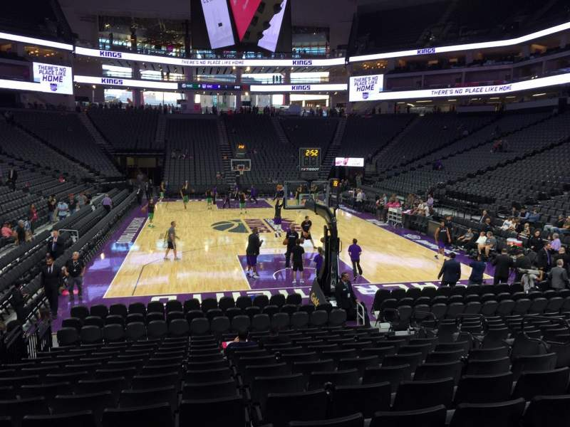 Seating view for Golden 1 Center Section 114 Row F Seat 10