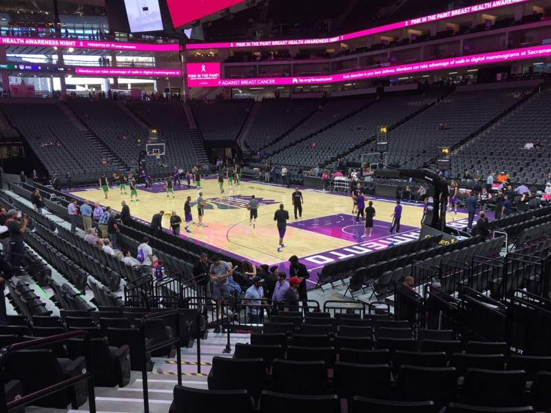 Seating view for Golden 1 Center Section 116 Row B Seat 7