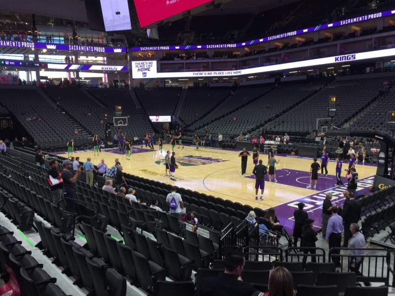 Seating view for Golden 1 Center Section 117 Row Ff Seat 4