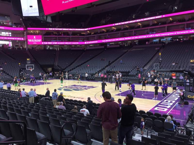 Seating view for Golden 1 Center Section 118 Row Ff Seat 4
