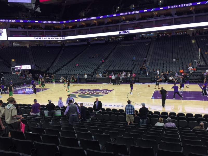 Seating view for Golden 1 Center Section 119 Row A Seat 10