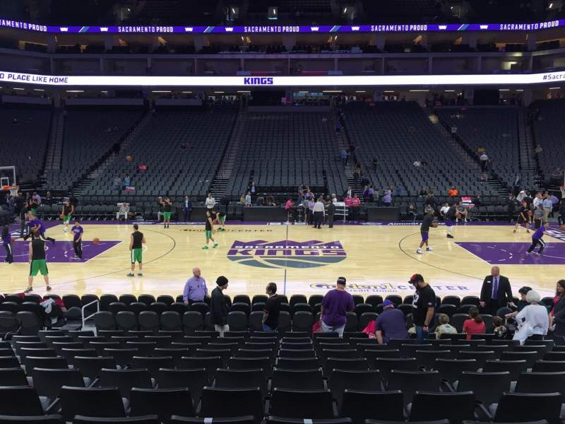 Seating view for Golden 1 Center Section 120 Row A Seat 10